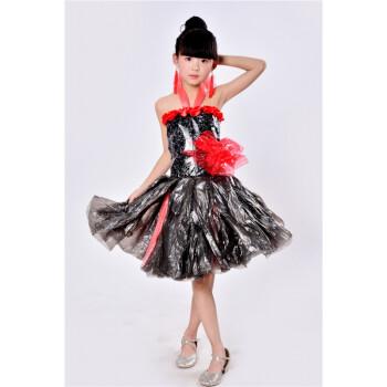 儿童表演服塑料材料衣服手工制作环保服亲子装走台走秀塑料 黑天鹅 17