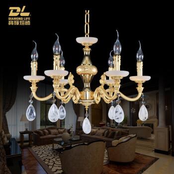 宝辉灯饰 欧式全铜吊灯法式简欧纯铜简约客厅