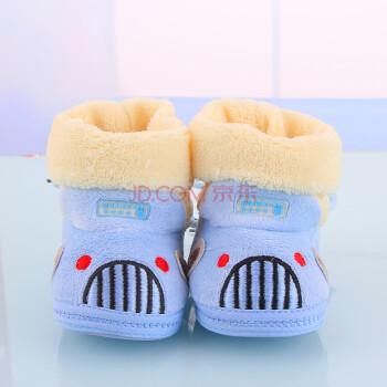 冬季0-1岁宝宝软底婴儿棉鞋 高帮保暖鞋 天鹅绒