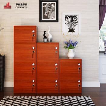 带门带锁小柜子自由组合柜收纳柜阳台柜子柜子储物柜书柜 全套柚木