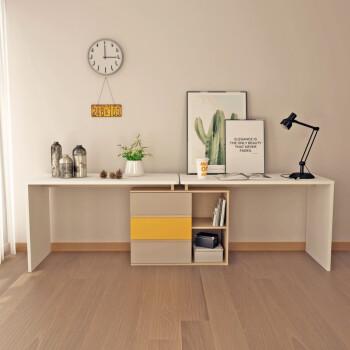 现代简约书桌经济型转角书桌电脑桌墙角拐角办公桌组合双人桌 两书桌图片