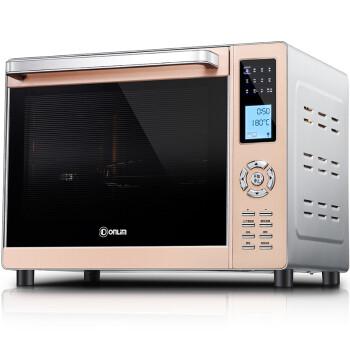 东菱(Donlim)电烤箱 家用多功能烤箱 33L大容量 6管上下独立温控 立体热旋风循环 DL-K33C