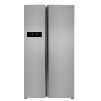 美的(Midea) BCD-610WKM(E) 610升 对开门冰箱 风冷无霜 电脑控温 纤薄设计 节能静音 (泰坦银)