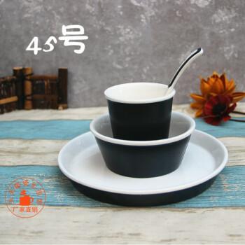 酒店用品陶瓷饭店摆台餐具主题餐厅台面四件套中式复古创意盘碗碟 45