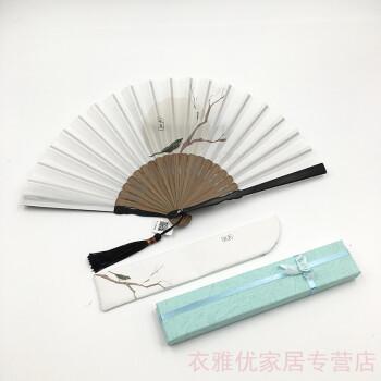 颗粒归仓 创意古风折扇女式小巧随身折叠扇中国风扇子图片