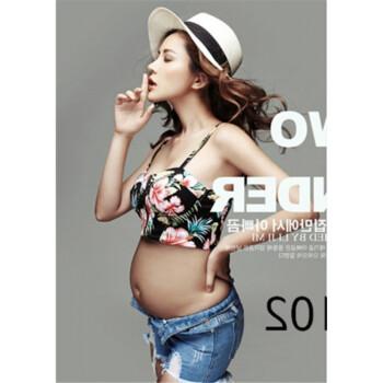 孕妇照服装孕妇性感黑蕾丝裙孕照写真拍照影楼摄影主题服 a5 帽子内衣