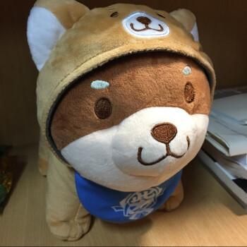 柴犬公仔周边幼犬玩偶毛绒微笑的小柴犬日本秋田可爱娃娃抱枕 小黄