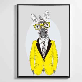 斑马先生 现代简约北欧卧室床头装饰画客厅挂画动物壁画餐厅挂画 a款