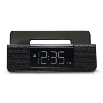 雷登RT4504数字显示FM收音机 USB充电插口双闹钟显示简约时尚座钟有源音箱
