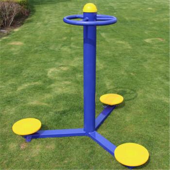 室外健身器材公园小区广场运动路径三位三人扭腰器转腰器 圆管式扭腰
