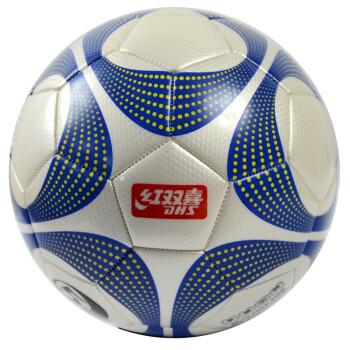 红双喜/DHS PU 足球 训练比赛 机缝标准5号球 FS5266-2/白蓝