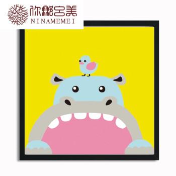 diy数字油画卡通小动物狗猫儿童自己填色手绘卧室数码