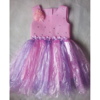 儿童环保手工服装新款儿童环保服diy手工制作时装秀演出服幼儿园服装