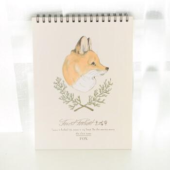空白素描本手绘速写本美术绘画a4画纸儿童图画本画画彩铅本子 狐狸
