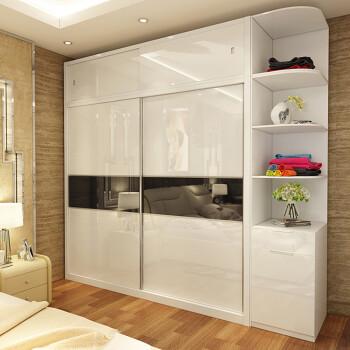 钢琴烤漆衣柜推拉门定做 环保高光实木衣柜门定制壁橱