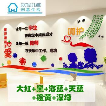 学校教育3d立体墙贴画教师办公室背景墙面贴纸班级教室文化墙装饰 976图片