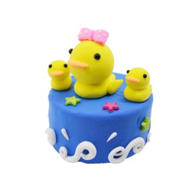 彩泥轻粘土 蛋糕 儿童手工制作材料包 工具黏土橡皮泥