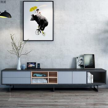 北欧风格电视柜茶几组合现代简约小户型迷你客厅黑白灰具实木 2.