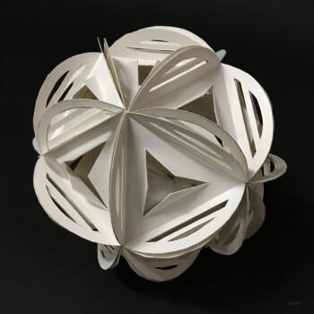 纸立体折纸手工纸雕多面体模型立体空间构成美术教具球体图纸 d款