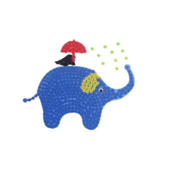 幼儿园儿童手工制作创意纽扣粘贴画花diy材料包 大象