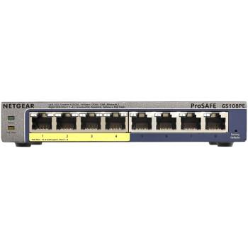 美国网件(NETGEAR)GS108PE 8口千兆简单网管POE交换机