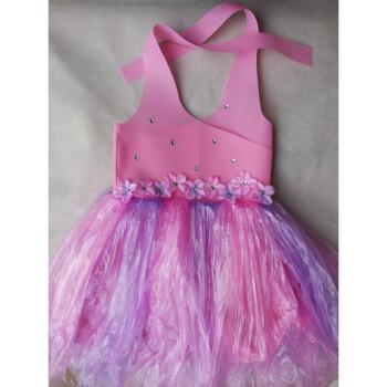新款儿童环保服diy手工制作时装秀演出服幼儿园服装女
