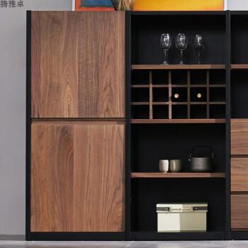 挪亚北欧家具实木餐边柜现代简约酒柜半高柜客厅储物柜餐厅隔断柜 两图片