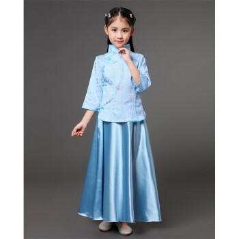 儿童民国古装服装古筝演出服女大童复古风小姐装班服摄影写真春夏 天