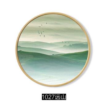 像框中式禅意圆形远山创意挂画壁画装饰画玄关相框装裱装饰画尺寸新版