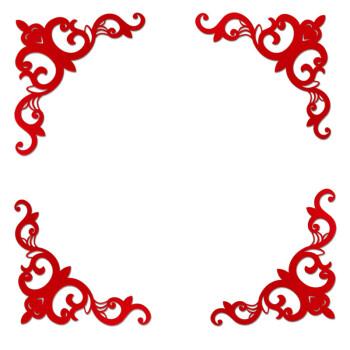 结婚喜字婚礼用品无纺布植绒布婚庆布置大门婚房创意个性红喜字贴 边
