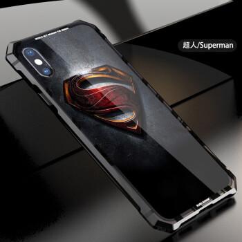 尼兰仕 iphonex手机壳苹果x保护套新款iphone10金属边框玻璃背板防摔