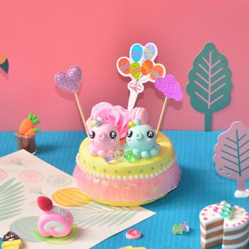 彩泥超轻粘土 蛋糕儿童手工制作diy材料包工具黏土橡皮泥套装 diy仿真