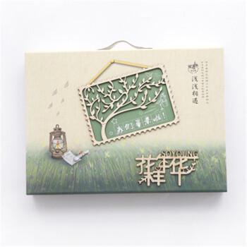 大号木质盒装同学录 韩国创意毕业纪念留言板 韩版初中生小学生复古图片