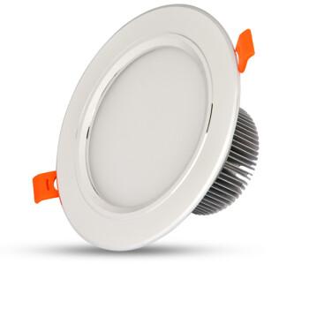 维可达Led筒灯防雾吊顶天花灯嵌入式筒灯 银白3寸【5w】 暖光