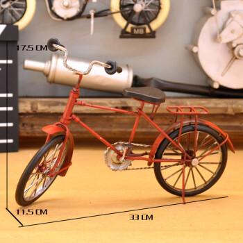 复古欧式自行车模型摆件店铺橱窗装饰桌面摆设手工工艺品咖啡软装图片