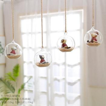 创意植物挂饰幼儿园墙面装饰品空中吊饰店铺墙饰卧室房间挂件个性