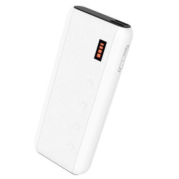 台电(Teclast) 10000毫安 移动电源/充电宝 仿皮亲肤手感 曲线圆角 T100CK 白色
