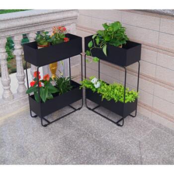 北欧铁艺隔断花架花槽盆栽架子餐厅植物屏风室内客厅高低盆景花箱