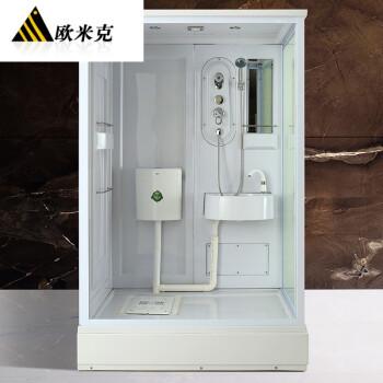 欧米克 家用一体式淋浴房整体卫生间集成卫浴防水浴室图片