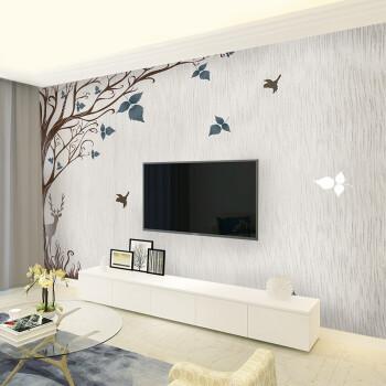 电视背景墙现代简约壁纸客厅卧室装饰壁画墙纸影视墙布 新型8d凹凸