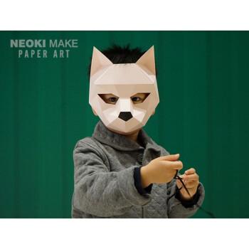 礼品 工艺礼品 星罗棋布 创意diy纸模儿童小动物面具可爱萌亲子万圣节