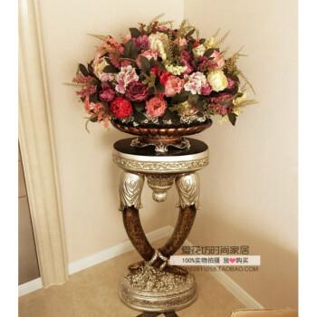 欧式落地大花瓶仿真花艺套装客厅花插装饰别墅高档装修工艺品摆设