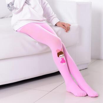 薄款女孩袜裤打底裤袜舞蹈袜白色大童天鹅绒春秋新品 天鹅绒小女孩