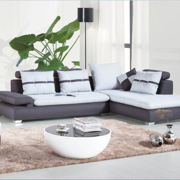 欧施洛 沙发 布艺沙发 转角沙发 简约现代沙发 1 3 贵妃 现代布艺休闲沙图片