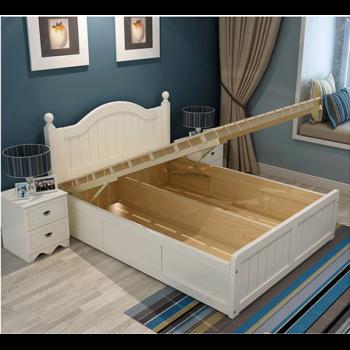 8米简约气压储物床现代床1.图片