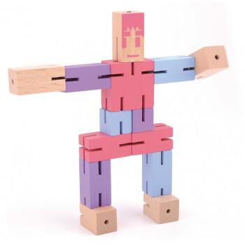 积木宝宝探索拼图霹雳解锁百变木制机器人拆装玩具人v积木2岁积木玩的魔方图片