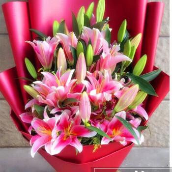 鲜花速递花束粉白阳历全国百合福州同城泉州合肥礼盒生日座射手是几月几日出生的图片