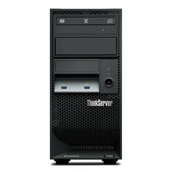 联想ThinkServer TS250 服务器主机 塔式服务器I3-6100/DVD/键鼠 主机+19.5英寸显示器 4G内存/1T硬盘  标配