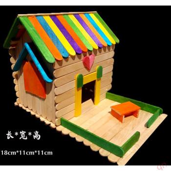 雪糕棒棍木条diy手工制作房子模型材料冰棒棍棒拼装玩具生日礼物 992
