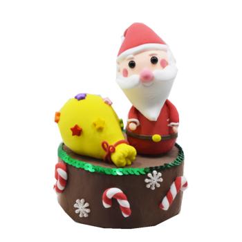 彩泥轻粘土 儿童手工制作材料包 工具黏土橡皮泥套装 圣诞老人